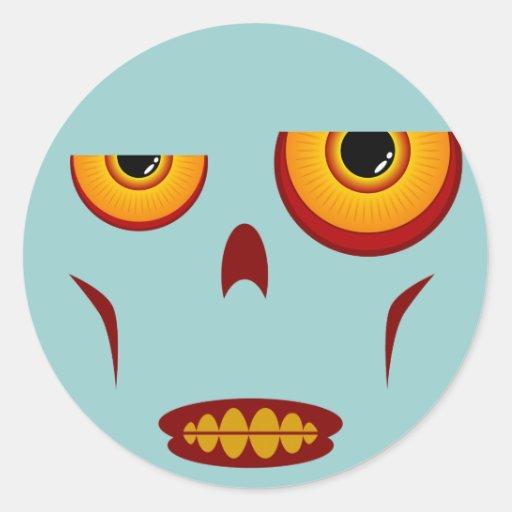 Cara del zombi - pegatina apretado de los dientes
