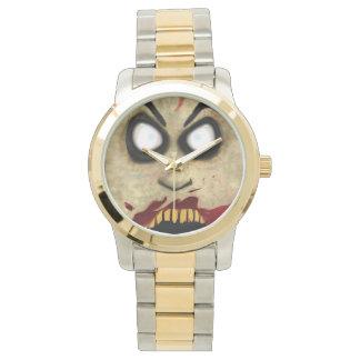 Cara del zombi reloj