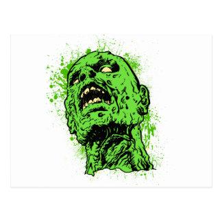 Cara del zombi tarjeta postal