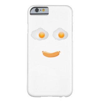 Cara divertida de la comida del huevo frito funda para iPhone 6 barely there