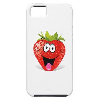 Cara divertida de la fresa que pega hacia fuera la iPhone 5 fundas