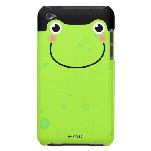 Cara divertida de la rana carcasa para iPod