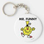 Cara divertida de Sr. Funny el | Llavero Redondo Tipo Pin