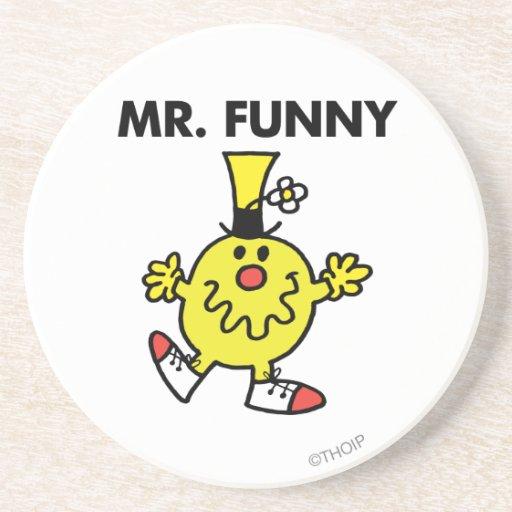 Cara divertida de Sr. Funny el | Posavasos Manualidades