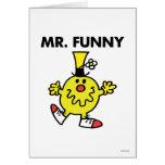 Cara divertida de Sr. Funny el | Tarjeta De Felicitación