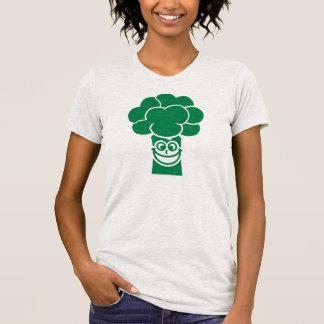 Cara divertida del bróculi camiseta