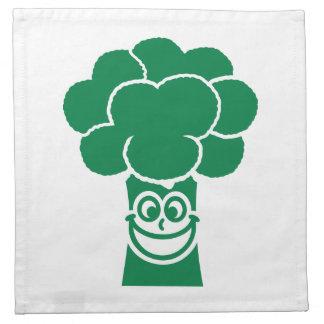 Cara divertida del bróculi servilleta