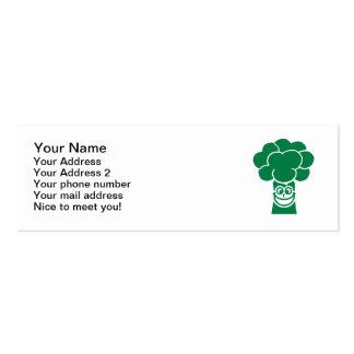 Cara divertida del bróculi tarjetas de visita