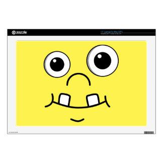 Cara divertida del dibujo animado calcomanía para 43,2cm portátil