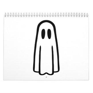 Cara divertida del fantasma calendario de pared