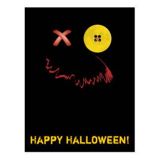 Cara divertida del feliz Halloween Postales
