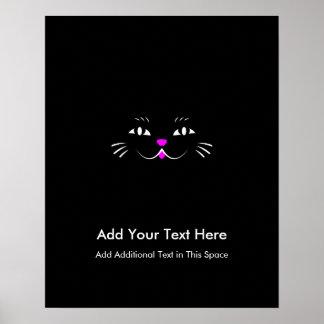 Cara divertida del gato del gatito poster