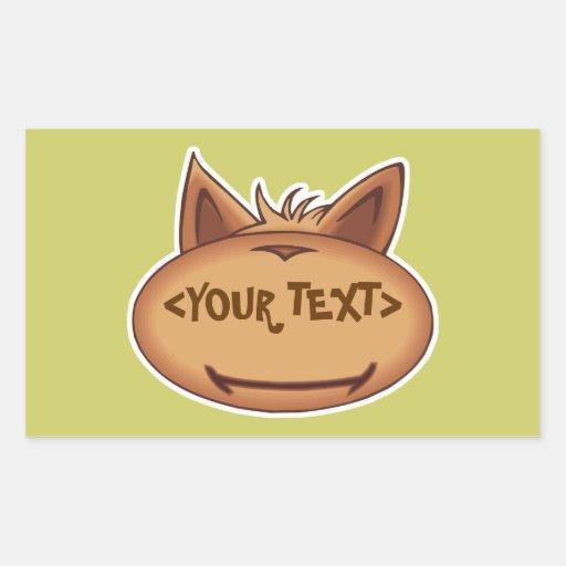 Cara divertida del gato, <YOUR TEXT> Rectangular Altavoz