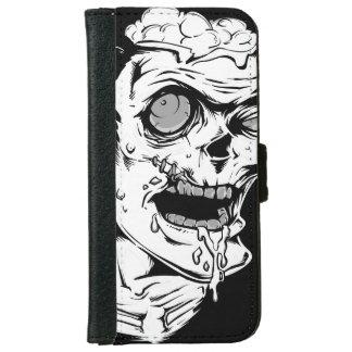 Cara divertida del horror del zombi - fresca y funda cartera para iPhone 6