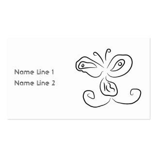 Cara divertida del insecto del dibujo animado tarjetas de negocios