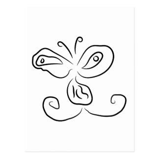 Cara divertida del insecto del dibujo animado tarjeta postal