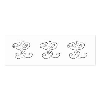 Cara divertida del insecto del dibujo animado tarjetas de visita mini