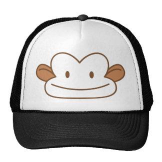 cara divertida del mono gorra