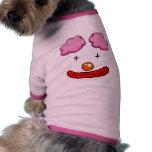Cara divertida del payaso ropa de mascota