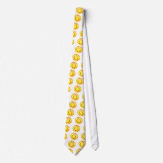 Cara divertida del smiley de la pelota de tenis corbatas