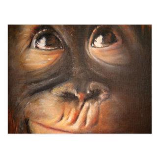 Cara divertida Kerra Lindsey de la pintura al óleo Tarjetas Postales