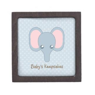Cara dulce del elefante del bebé cajas de recuerdo de calidad