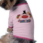 Cara dulce del payaso camiseta de mascota