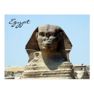 cara Egipto de la esfinge Tarjetas Postales