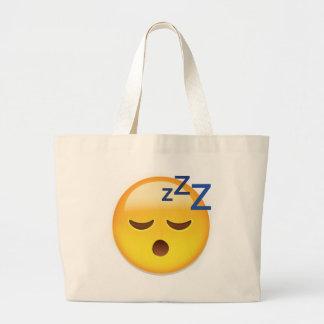 Cara Emoji el dormir Bolsa Tela Grande