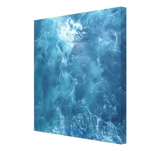 Cara en la conmoción del océano impresión de lienzo