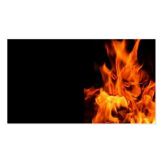 Cara en las llamas tarjetas de visita