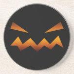 Cara enojada de la calabaza de Halloween Posavasos Personalizados