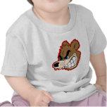 cara enojada del oso el gruñir camiseta