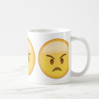 Cara enojada Emoji Taza De Café