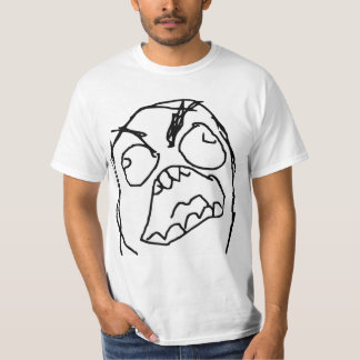 Cara enojada Meme de la rabia de Fuu Fuuu del Poleras