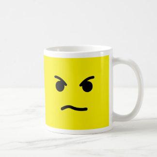 Cara enojada taza de café