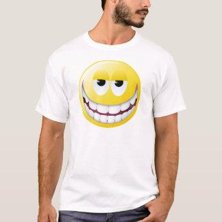 Cara enorme del smiley de la sonrisa playera