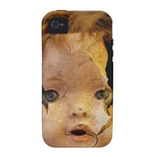 Cara espeluznante de la muñeca iPhone 4 carcasa