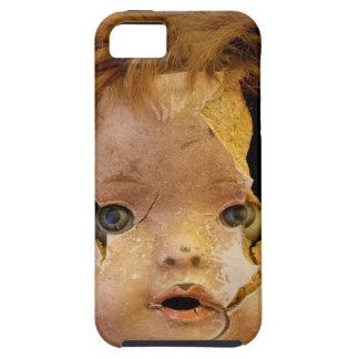 Cara espeluznante de la muñeca iPhone 5 protector
