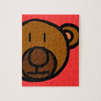 Cara exhausta del oso de peluche puzzles con fotos