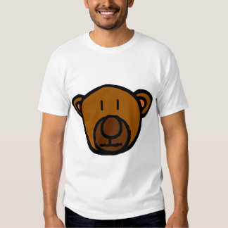 Cara exhausta del oso de peluche remera