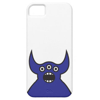 Cara extranjera azul del monstruo de Kawaii Funda Para iPhone SE/5/5s
