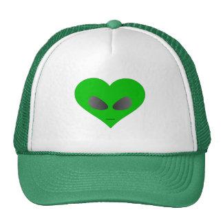 Cara extranjera del corazón gorras