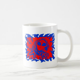 cara extranjera taza de café