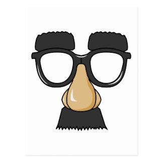 Cara falsa del bigote postales