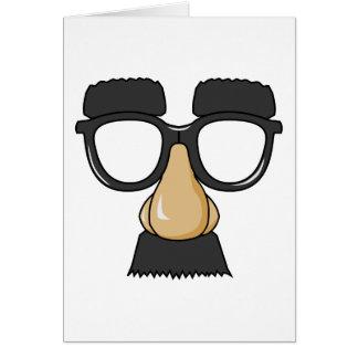 Cara falsa del bigote tarjeta de felicitación