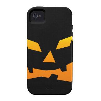 Cara fantasmagórica de la calabaza de Halloween de Vibe iPhone 4 Carcasa