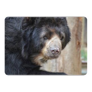 Cara fantástica de un oso negro invitación 12,7 x 17,8 cm