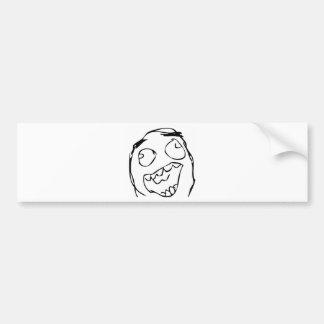 Cara feliz etiqueta de parachoque