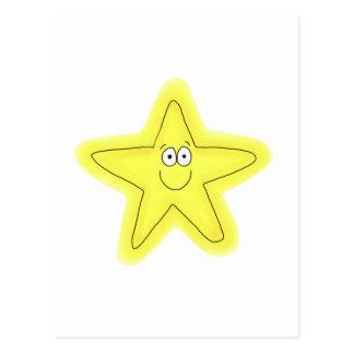 Cara feliz caprichosa de la estrella linda tarjeta postal
